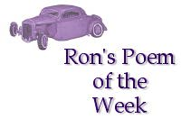 Ron's Poem of the Week